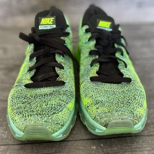 USED Nike Flyknit Max - Green/Multi Color, SZ 9